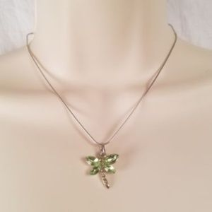 Jewelry - Bejeweled Dragonfly Pendant Necklace